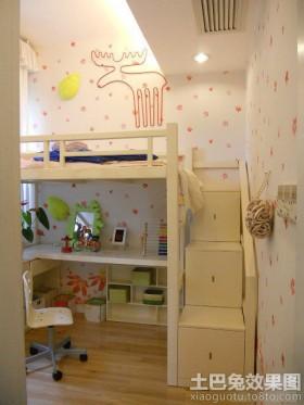 卧室背景墙书桌小空间多功能儿童房装修效果图欣赏