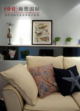 美式地中海风格客厅挂画效果图