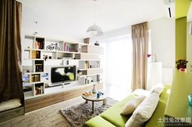 现代40平米小户型客厅电视柜效果图