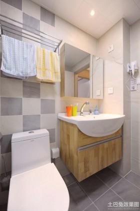日式简约小卫生间装修效果图欣赏