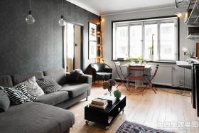简约小户型客厅家具摆放效果图