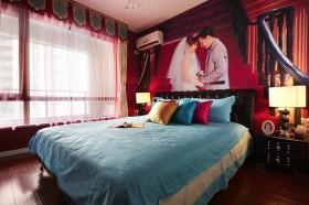 现代风格二居室婚房卧室装修效果图欣赏