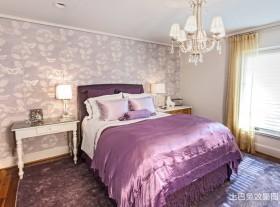 新房卧室墙纸装修效果图大全2013图片
