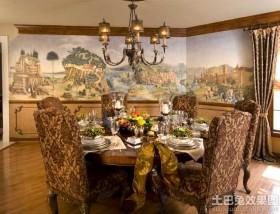 古典风格餐厅装饰画效果图