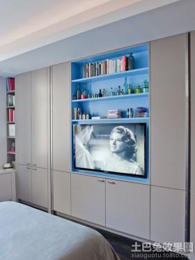 卧室电视柜壁柜装修效果图