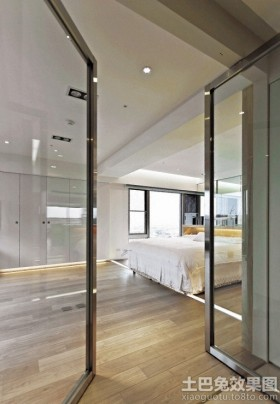 卧室玻璃门图片