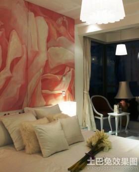 二居卧室床头背景墙装修效果图片