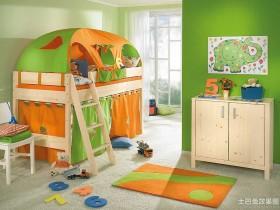 绿色家居儿童房设计图片