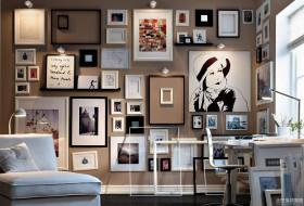书房照片墙效果图片