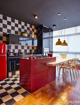 现代公寓开放式厨房装修效果图