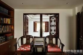 中式书房实木桌椅图片