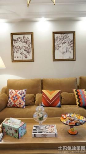 混搭客厅装饰画图片