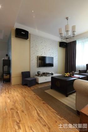 混搭中式壁纸电视背景墙效果图