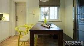 混搭风格家装实木餐桌图片