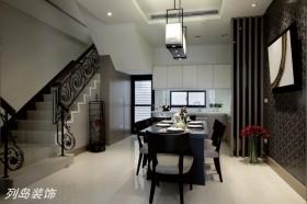 现代简约风格黑白餐厅装修效果图