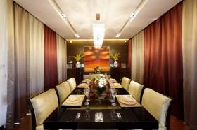 新古典风格餐厅背景墙效果图
