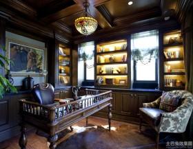 美式书房装修图片欣赏