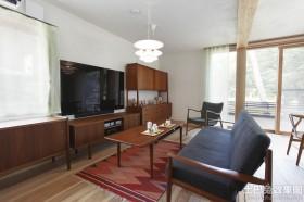 简美式客厅装修效果图