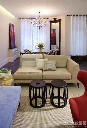 现代公寓客厅效果图