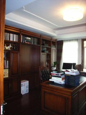 中式混搭风格书房装修效果图