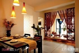 中式混搭风格两室两厅装修效果图片