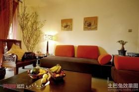 中式混搭风格客厅沙发图片