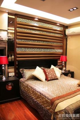 新亚洲风格二居卧室背景墙效果图