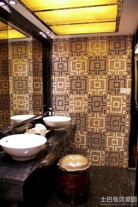 家装卫生间马赛克拼花背景墙效果图片-卫生间背景墙装修效果图大全