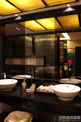 新亚洲风格卫生间洗手盆图片
