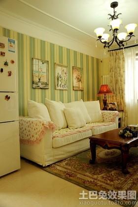 田园风格60平米小户型客厅效果图片
