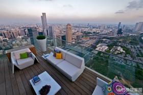 公寓顶层露台设计效果图