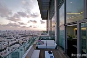 公寓露天阳台装修效果图片