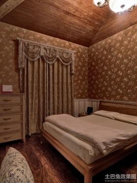 混搭别墅卧室窗帘效果图片