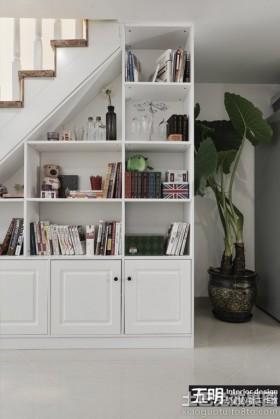 家装实木书柜装修效果图片