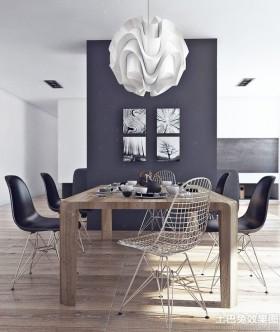 现代大户型单身公寓餐厅效果图