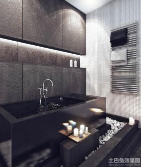 现代公寓卫生间装修效果图片