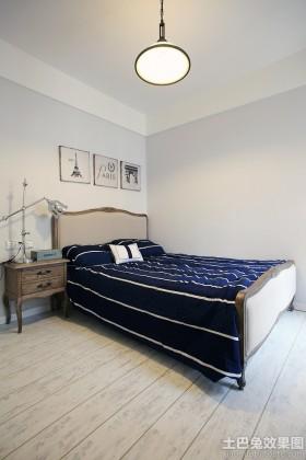 地中海风格二居卧室效果图