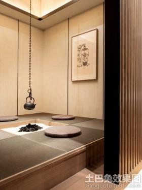 日式风格茶室榻榻米装修效果图