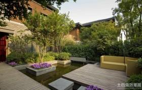 别墅庭院绿化设计实景图