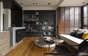 现代公寓一居客厅电视墙效果图