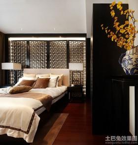 中式风格二居卧室装饰效果图