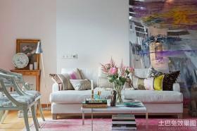 北欧风格二居客厅装修效果图片