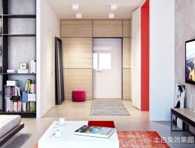 现代公寓进门玄关装修效果图片