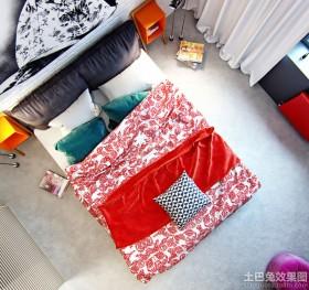 现代单身公寓卧室效果图