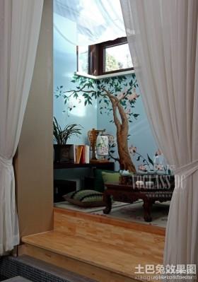 中式风格窗帘装修效果图大全2016图片图片