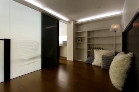 现代简约风格卧室地板效果图