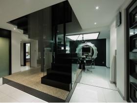 现代风格黑白灰家居楼梯装修效果图