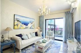 地中海风格二居客厅装饰效果图
