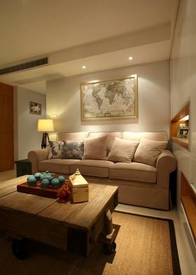 现代田园风格二居室客厅装修效果图