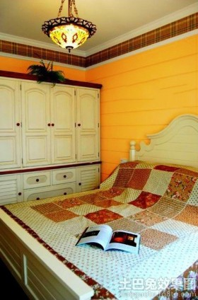 法式田园风格卧室吊灯图片